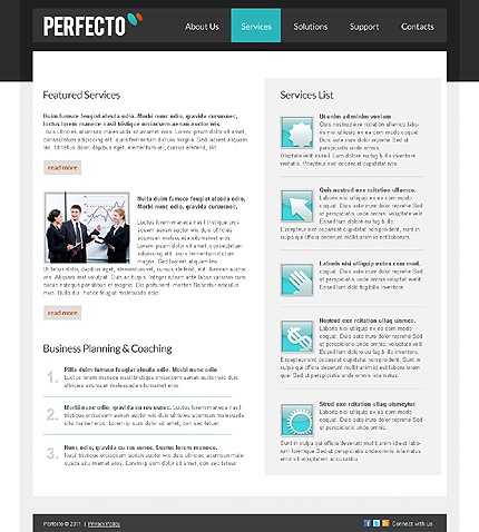 Template 37697 ( Services Page ) ADOBE Photoshop Screenshot