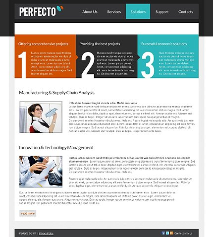 Template 37697 ( Solutions Page ) ADOBE Photoshop Screenshot