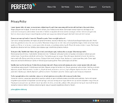Template 37697 ( Privacy Policy Page ) ADOBE Photoshop Screenshot