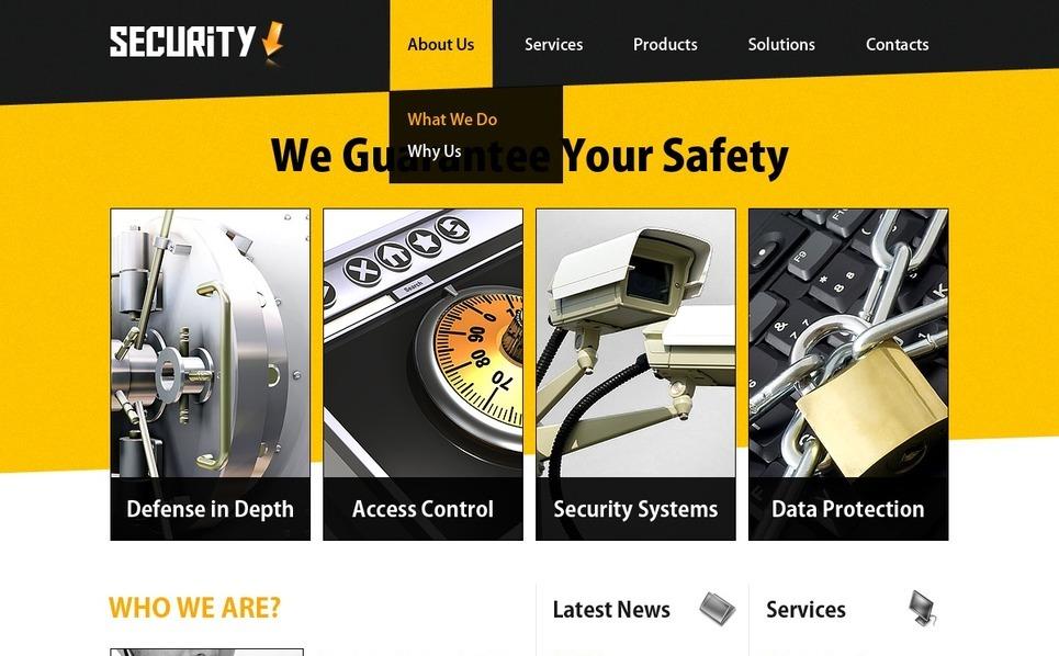 Šablona webových stránek Bezpečnost informací New Screenshots BIG