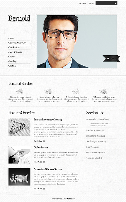 Template 37702 ( Our services Page ) ADOBE Photoshop Screenshot