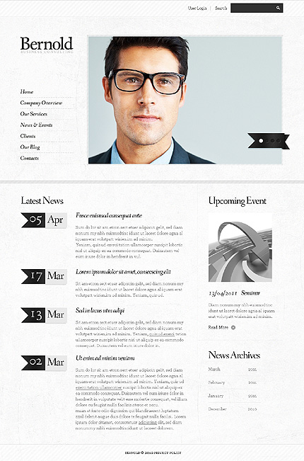 Template 37702 ( News & events Page ) ADOBE Photoshop Screenshot