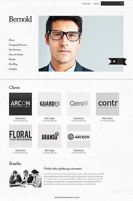 Template 37702 ( Clients Page ) ADOBE Photoshop Screenshot
