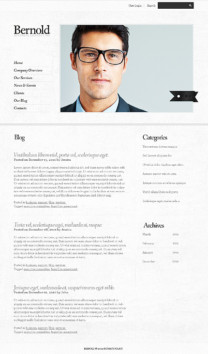 Template 37702 ( Our Blog Page ) ADOBE Photoshop Screenshot