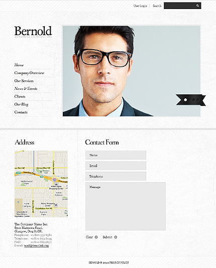 Template 37702 ( Contacts Page ) ADOBE Photoshop Screenshot