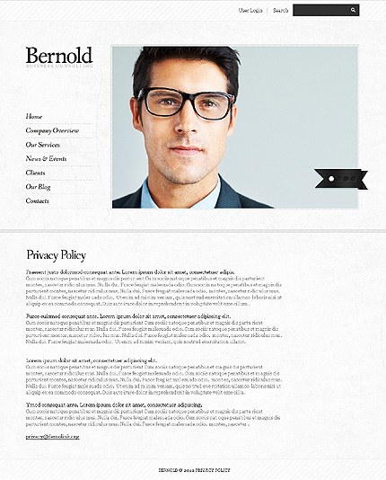 Template 37702 ( Privacy Policy Page ) ADOBE Photoshop Screenshot