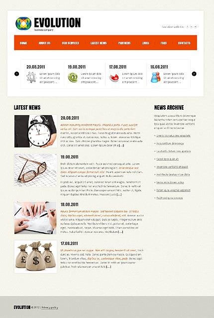 Template 37707 ( Latest News Page ) ADOBE Photoshop Screenshot