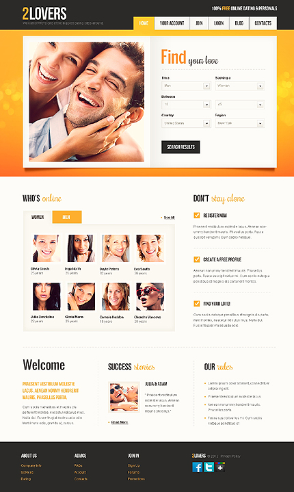lovers website templates