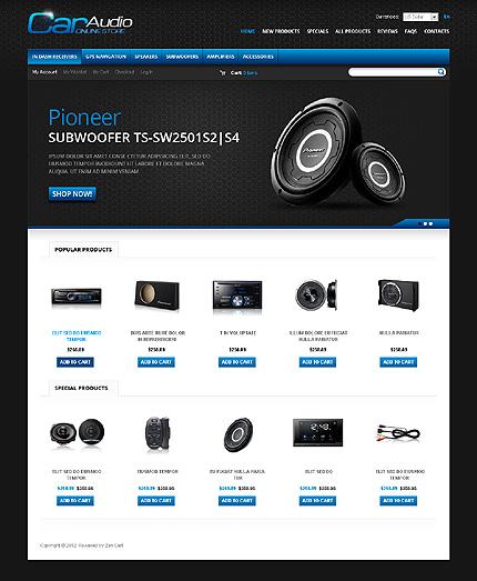 ZenCart Template 37717 Main Page Screenshot
