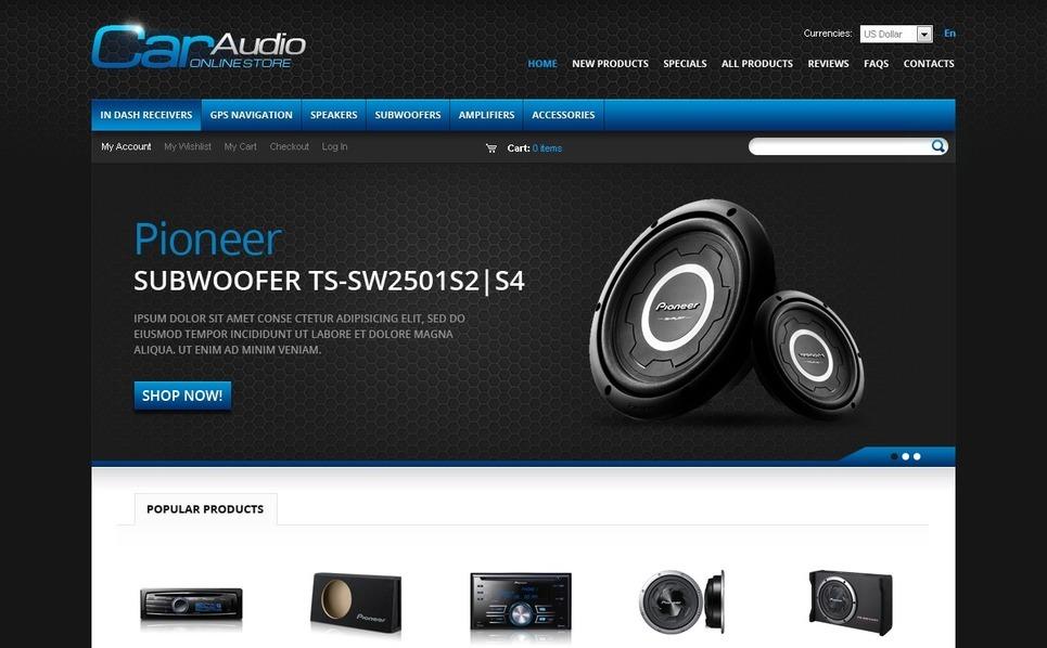 Template ZenCart  #37717 per Un Sito di Impianti Audio per Auto New Screenshots BIG
