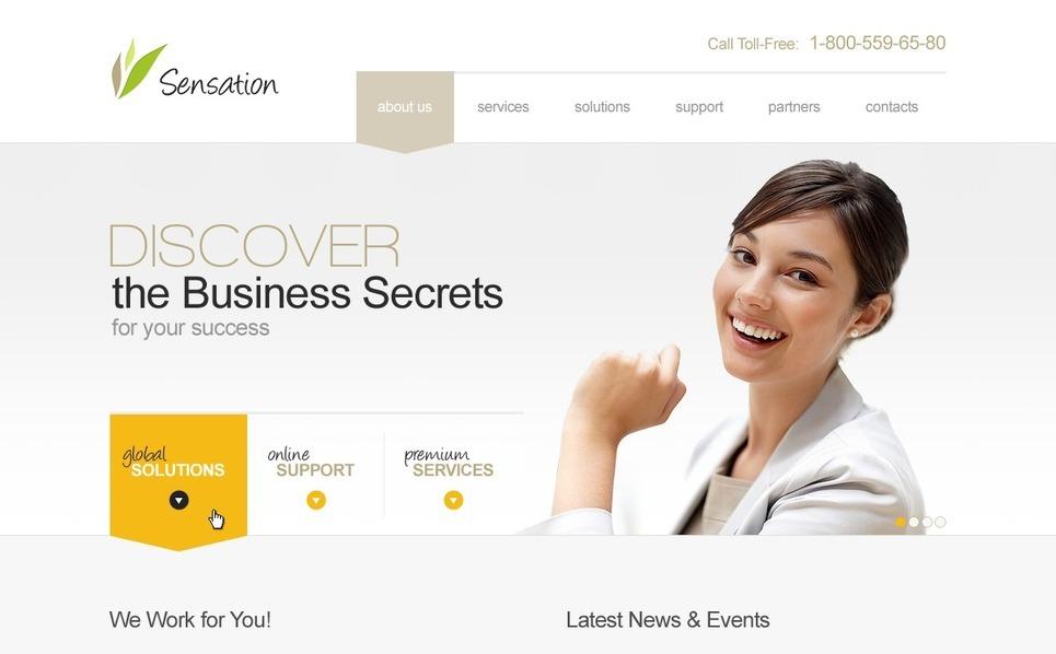 Plantilla PSD #37718 para Sitio de Negocio y Servicios New Screenshots BIG