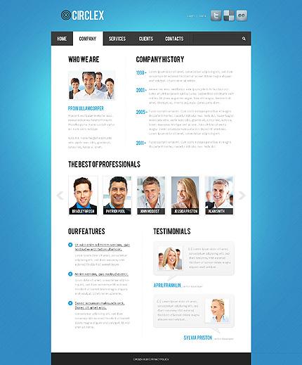 Template 37721 ( Company Page ) ADOBE Photoshop Screenshot