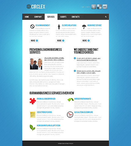 Template 37721 ( Services Page ) ADOBE Photoshop Screenshot