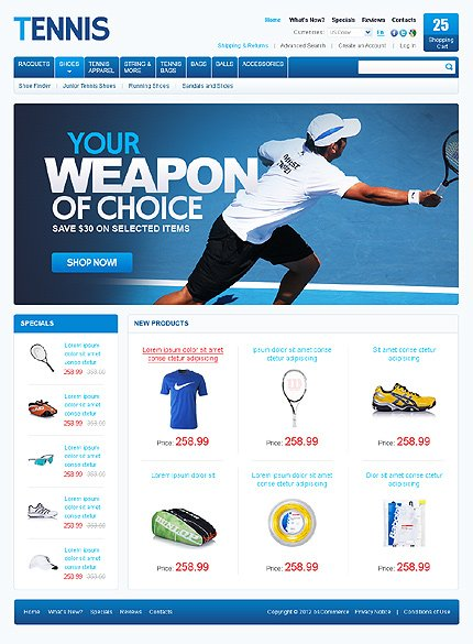 osCommerce Template 37738 Main Page Screenshot