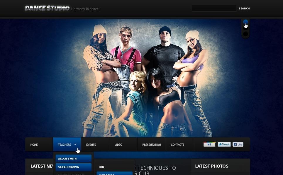 Modello Flash CMS  #37742 per Un Sito di Studio di Danza New Screenshots BIG