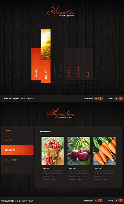 ADOBE Photoshop Template 37743 Home Page Screenshot