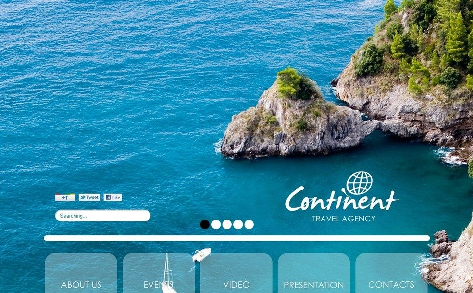 Flash CMS šablona Cestovní kancelář New Screenshots BIG