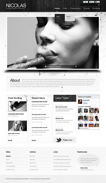 ADOBE Photoshop Template 37746 Home Page Screenshot