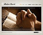 Religious Flash CMS  Template 37747