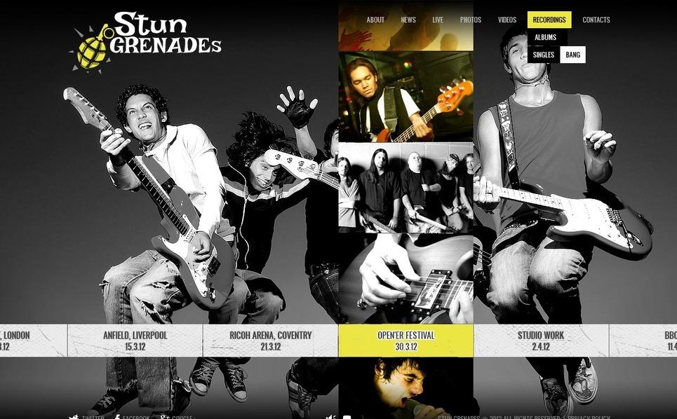 Template Flash CMS para Sites de Banda №37750 New Screenshots BIG