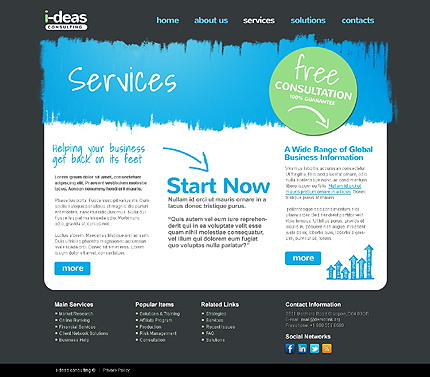 Template 37758 ( Services Page ) ADOBE Photoshop Screenshot