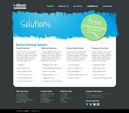 Template 37758 ( Solutions Page ) ADOBE Photoshop Screenshot