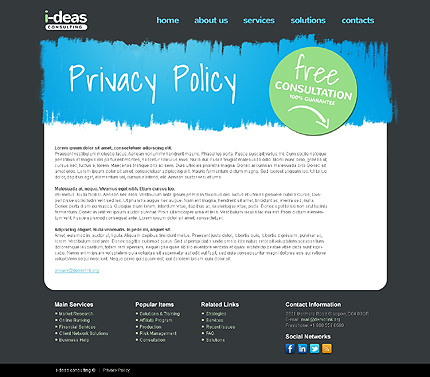 Template 37758 ( Privacy Policy Page ) ADOBE Photoshop Screenshot