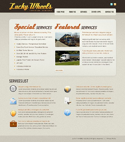 Template 37759 ( Services Page ) ADOBE Photoshop Screenshot