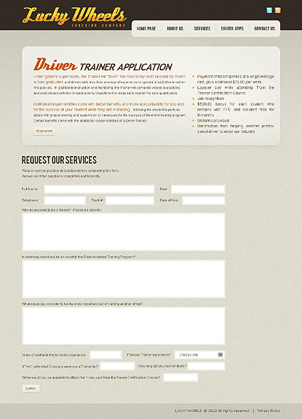 Template 37759 ( Driver Apps Page ) ADOBE Photoshop Screenshot