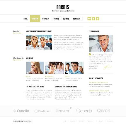 Template 37761 ( Company Page ) ADOBE Photoshop Screenshot