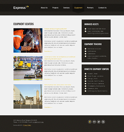 Template 37763 ( Equipment Page ) ADOBE Photoshop Screenshot