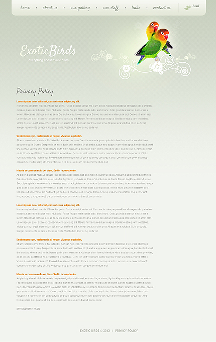 Template 37773 ( Privacy Policy Page ) ADOBE Photoshop Screenshot