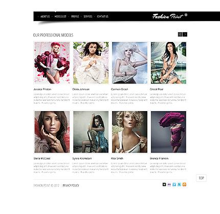 Template 37774 ( Models List Page ) ADOBE Photoshop Screenshot