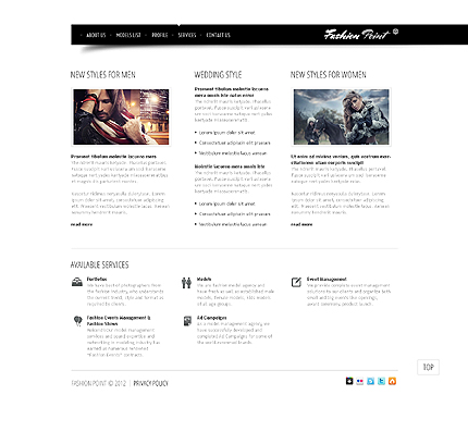 Template 37774 ( Services Page ) ADOBE Photoshop Screenshot