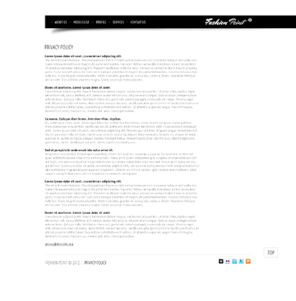 Template 37774 ( Privacy Policy Page ) ADOBE Photoshop Screenshot