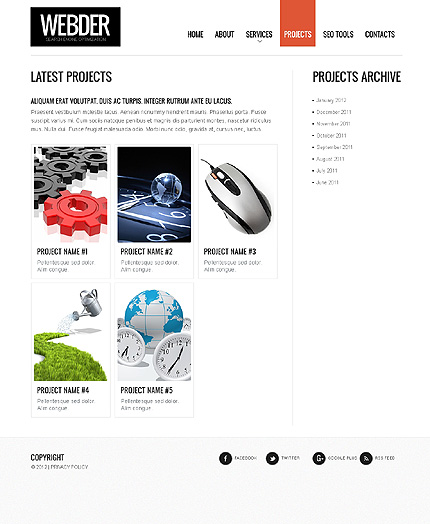 Template 37776 ( Projects Page ) ADOBE Photoshop Screenshot