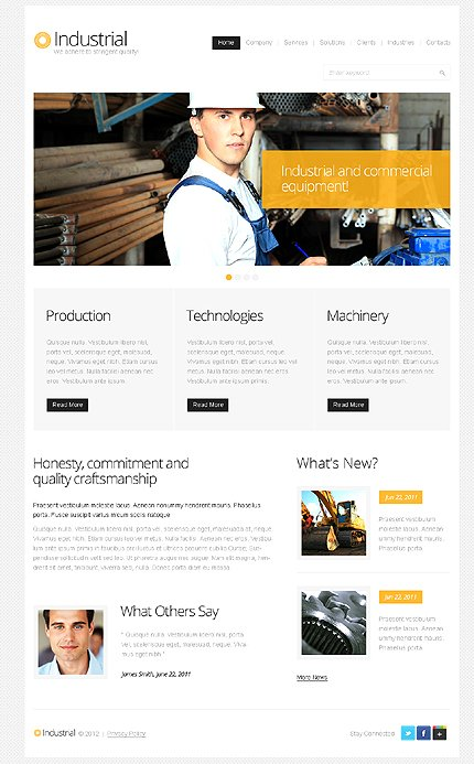 ADOBE Photoshop Template 37790 Home Page Screenshot
