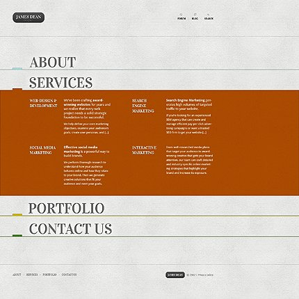 Template 37795 ( Services Page ) ADOBE Photoshop Screenshot