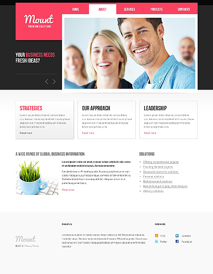 Template 37799 ( About Page ) ADOBE Photoshop Screenshot