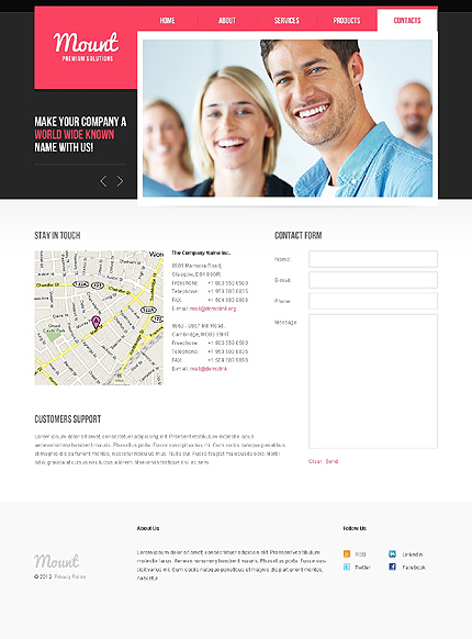 Template 37799 ( Contacts Page ) ADOBE Photoshop Screenshot