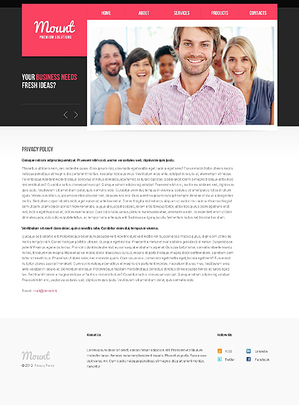 Template 37799 ( Privacy Policy Page ) ADOBE Photoshop Screenshot