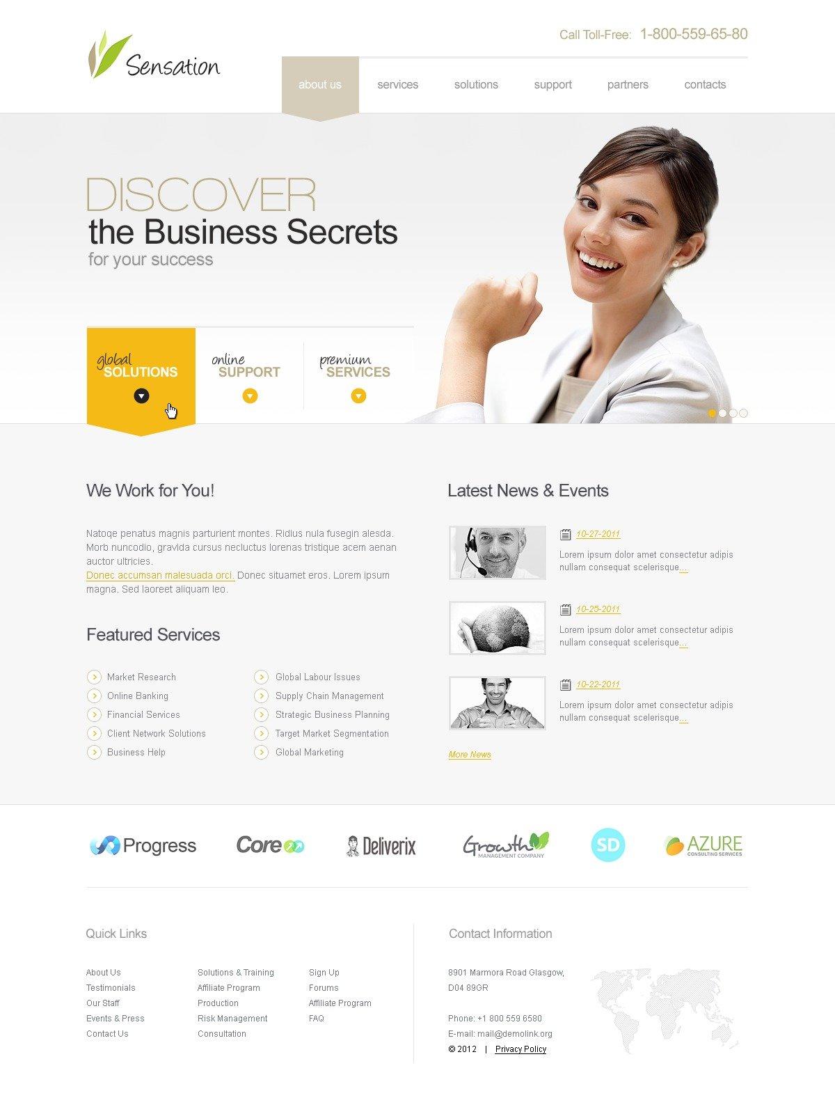 Business & Services PSD Template - screenshot