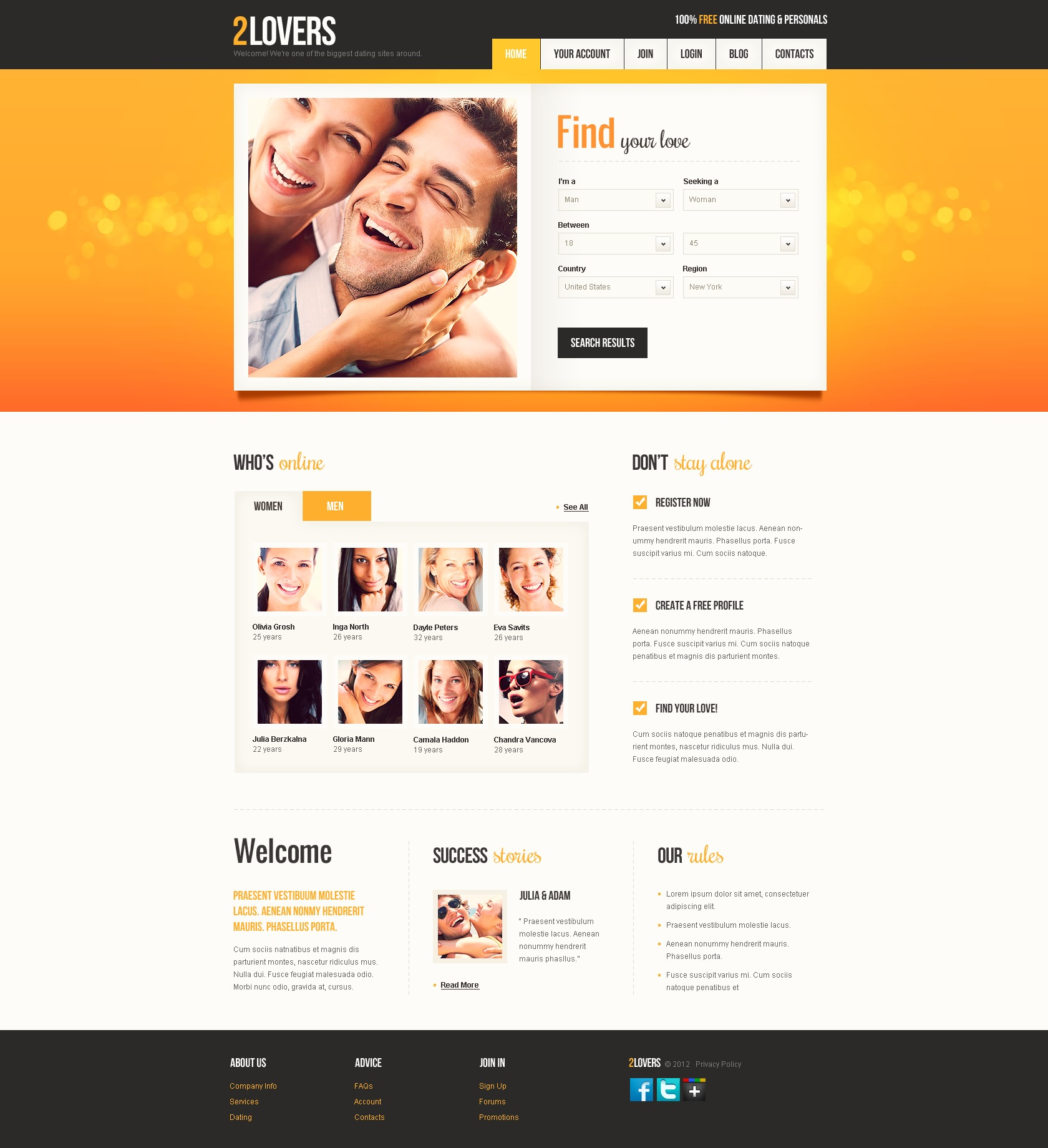 dating site about me template - dating website template 37710