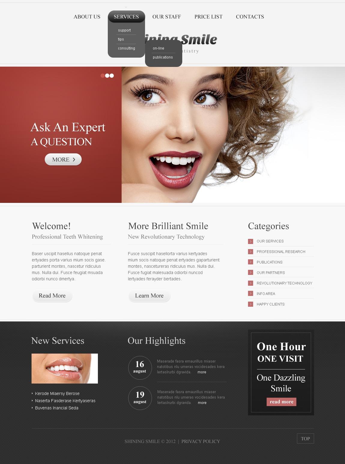 dentistry website template  37703