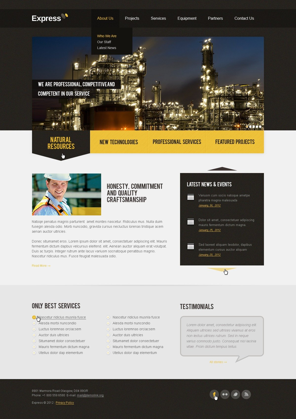 Industrial Website Template 37763