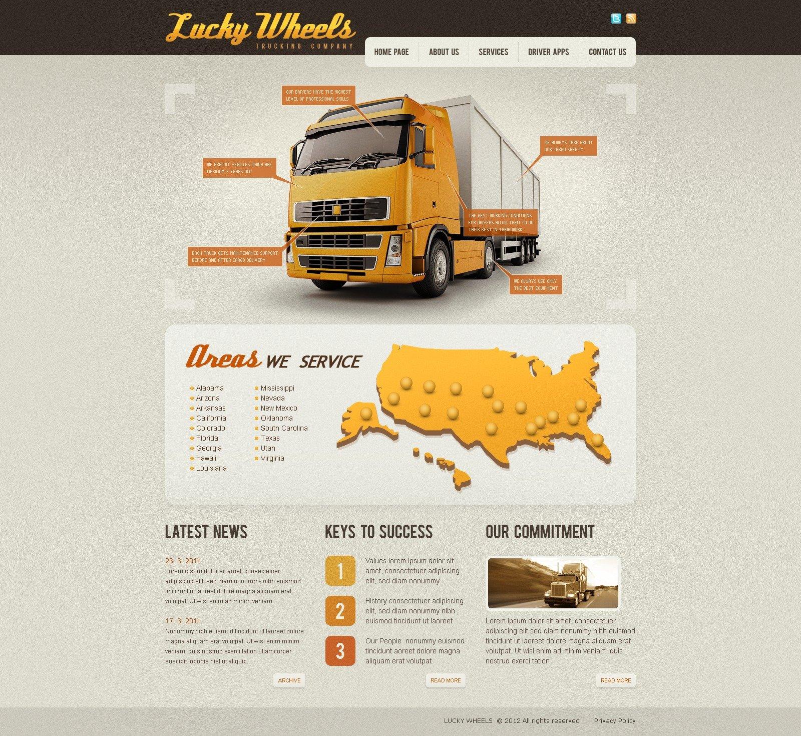 Trucking Website Templates