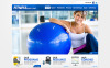 Website template over Fitness CSS photoshop