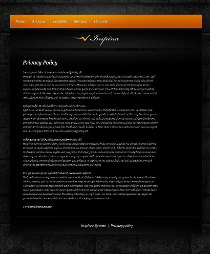 Template 37802 ( Privacy Policy Page ) ADOBE Photoshop Screenshot