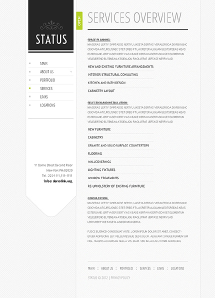Template 37809 ( Services Page ) ADOBE Photoshop Screenshot