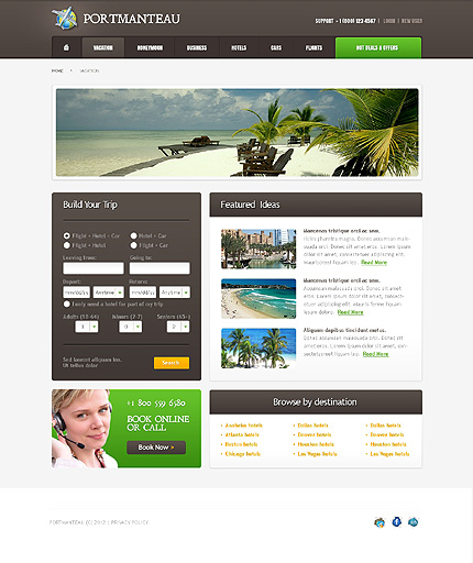 Template 37812 ( Vacation Page ) ADOBE Photoshop Screenshot
